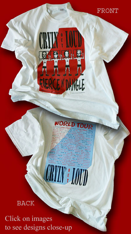 World Tour T-shirt back & front designs